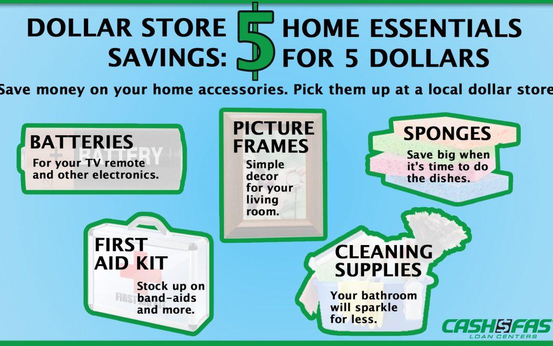 Cash Fast Dollar Store Savings Infographic